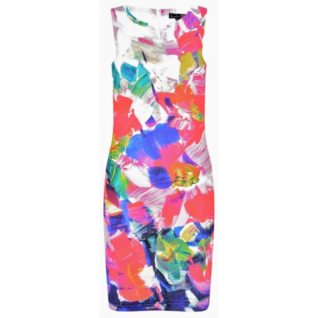 Smashed Lemon Floral Shift Dress - Multicoloured