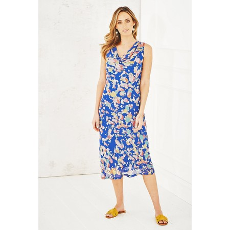 Adini Painters Spot Print Maya Dress - Blue