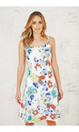 Adini Tropical Dominica Print Dominica Dress