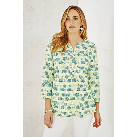 Adini Double Tree Print Anya Tunic - Yellow