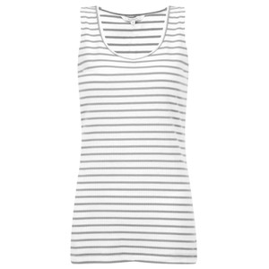 Sandwich Clothing Striped Cotton Rib Vest Top