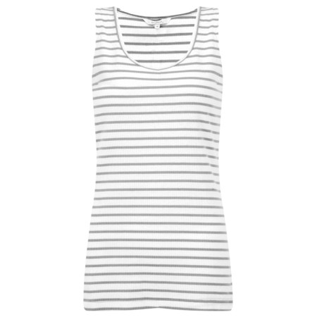 Sandwich Clothing Striped Cotton Rib Vest Top - Grey