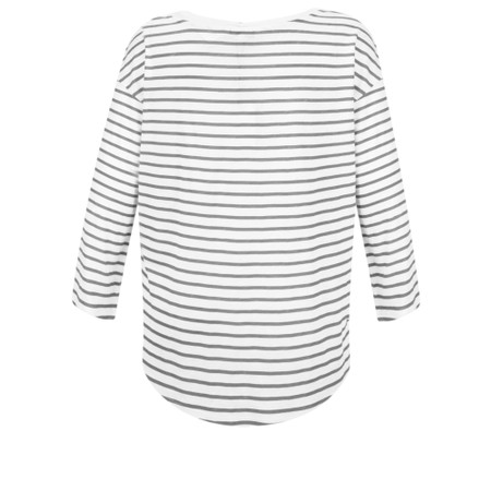 Sandwich Clothing Striped Linen Jersey Top - Grey