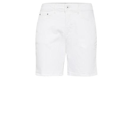 ICHI Gesto Denim Shorts - White