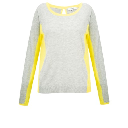 Sandwich Clothing Contrast Side Panel Jumper - Grey