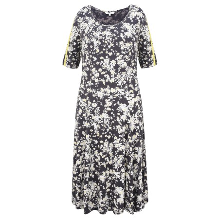 Sandwich Clothing Fit and Flare Floral Print Dress - Grey