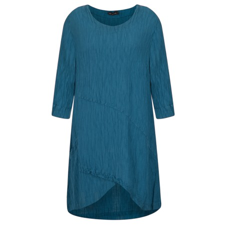 Grizas Petra Crinkle Tunic Top - Turquoise