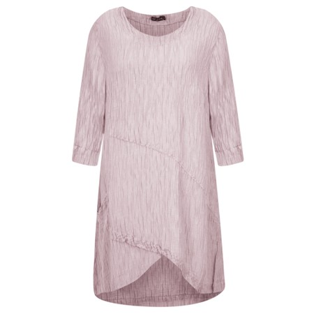 Grizas Petra Crinkle Tunic Top - Pink