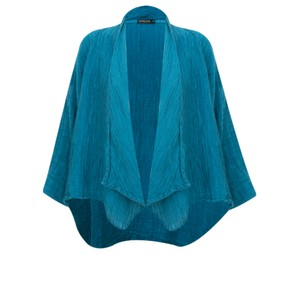 Grizas Nadia Crinkle Linen Blend Waterfall Jacket