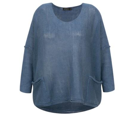 Grizas Tina Oversized Linen Knit Jumper - Blue