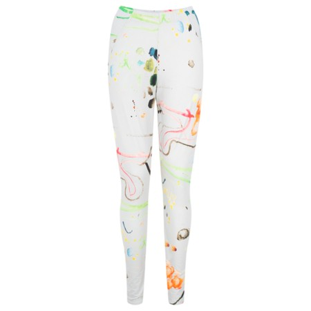 Grizas Ania Printed Jersey Leggings - Grey