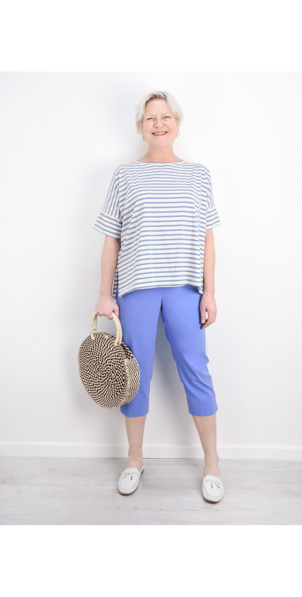 Marie 07 Azure Blue Cropped Trouser main image