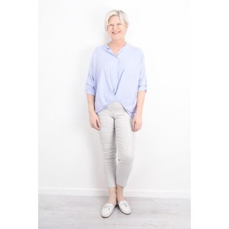 DECK Evie Easyfit Shirt Top - Blue