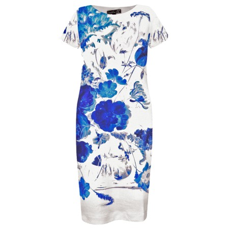 Smashed Lemon Bold Floral Rijks Dress - Blue
