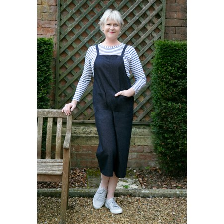 Chalk Grace Denim Jumpsuit - Blue
