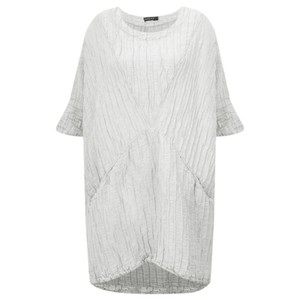 Grizas Nikita Long Silk Linen Tunic With Pockets