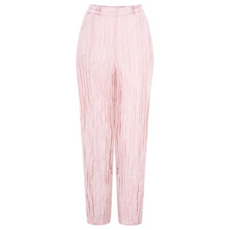 Grizas Viveca Solid Crinkle Easyfit Trouser - Pink