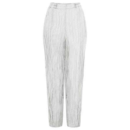 Grizas Viveca Solid Crinkle Easyfit Trouser - Beige