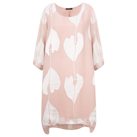 Grizas Liza Leaf Devore Long Tunic - Pink