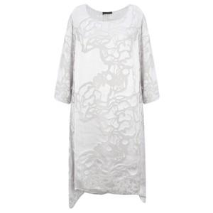 Grizas Liza Silk Devore Tunic Dress