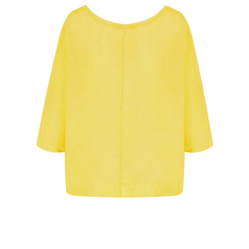 TOC Billie Linen Mix Easy Fit Top Yellow