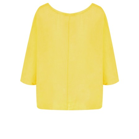 TOC  Billie Linen Easy Fit Top - Yellow