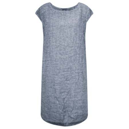 TOC  Enza Washed Linen Dress - Blue