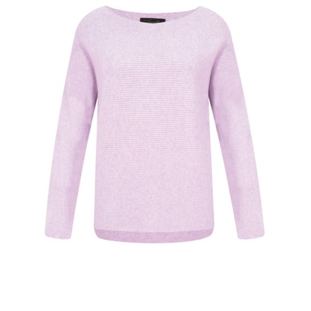 Fenella  Janey Rib Easyfit Jumper - Purple