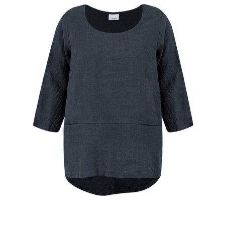 Thing Linen Pocket Top - Blue