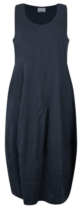 Thing Linen Sleeveless Dress Navy