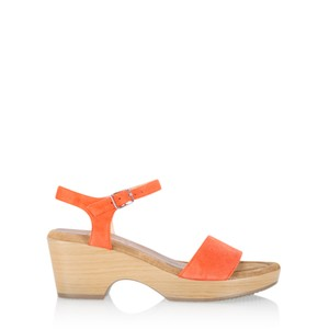 Gemini Label  Aneka Icon Suede Wedge Sandal