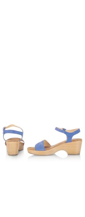 Gemini Label Shoes Aneka Icon Anton Blue Suede Wedge Sandal Anton Blue