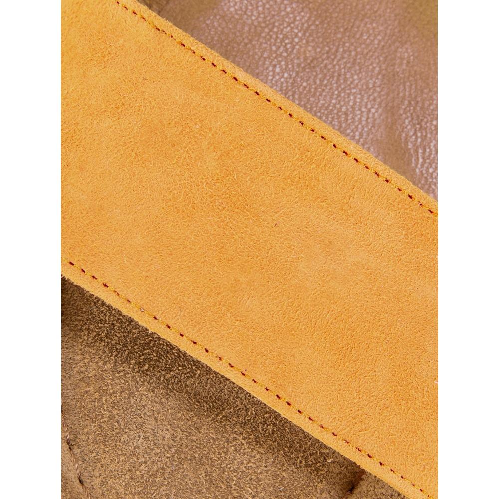 Gemini Label  Aneka Icon Suede Wedge Sandal Camomile Yellow