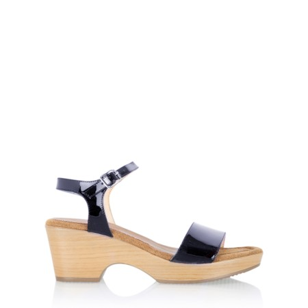 Gemini Label  Aneka Icon Patent Wedge Sandal  - Blue