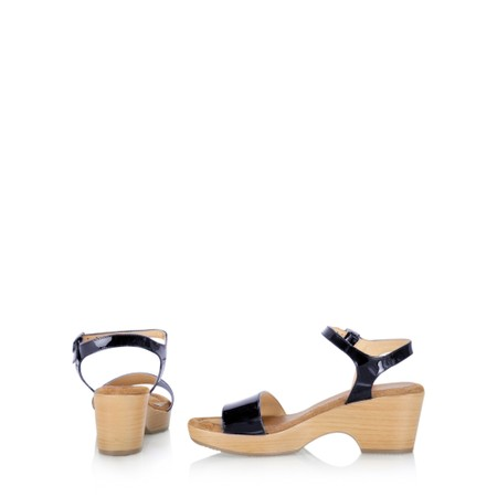 Gemini Label  Aneka Icon Patent Wedge Sandal  - Blue