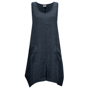Thing Linen A-Shape Sleeveless Tunic Dress With Pockets