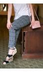 Robell Trousers Black/White Holly Smart Check Full Length Trouser
