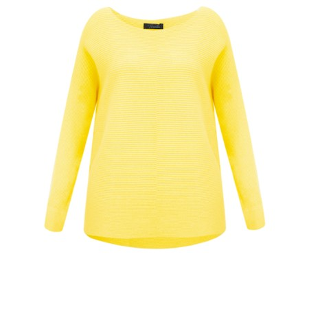 Fenella  Janey Rib Easyfit Jumper - Yellow
