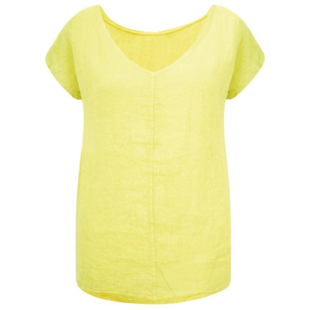 Arka Vida Linen Top - Yellow