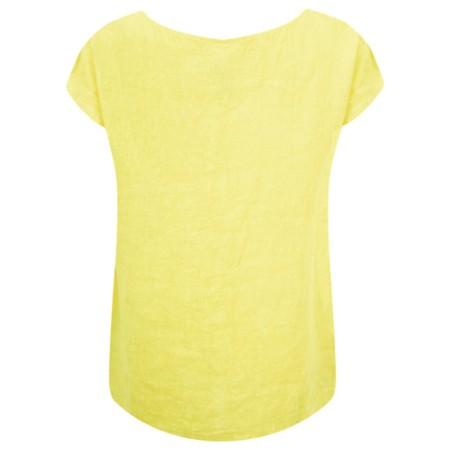 Arka Vida Linen Top - Yellow