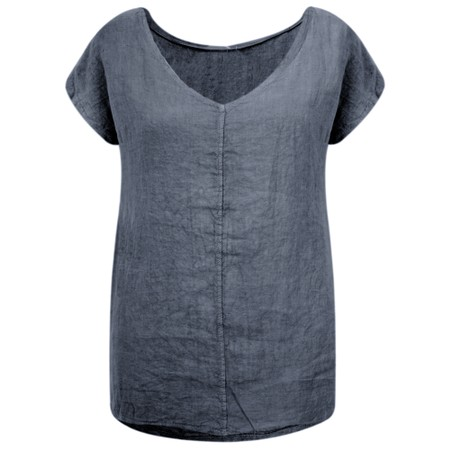 Arka Vida Linen Top - Blue