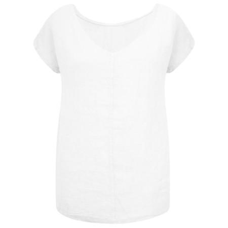 Arka Vida Linen Top - White