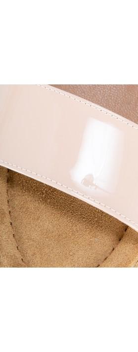 Gemini Label  Aneka Icon Patent Wedge Sandal  Face Nude