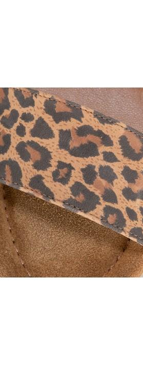 Gemini Label  Aneka Icon Suede Wedge Sandal Leopardo