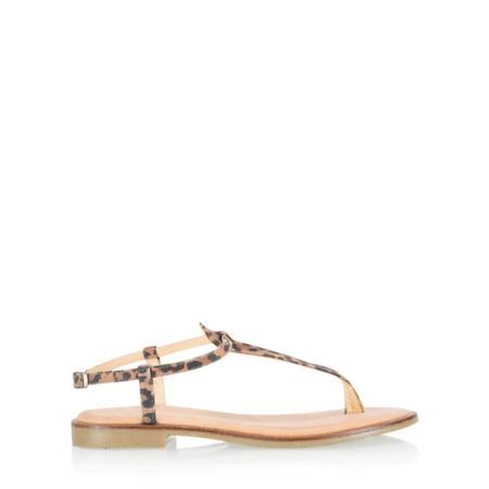Gemini Label  Sammie Icon Suede Flat Sandal - Beige