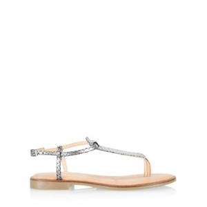 Gemini Label  Sammie Icon Metallic Leather Flat Sandal