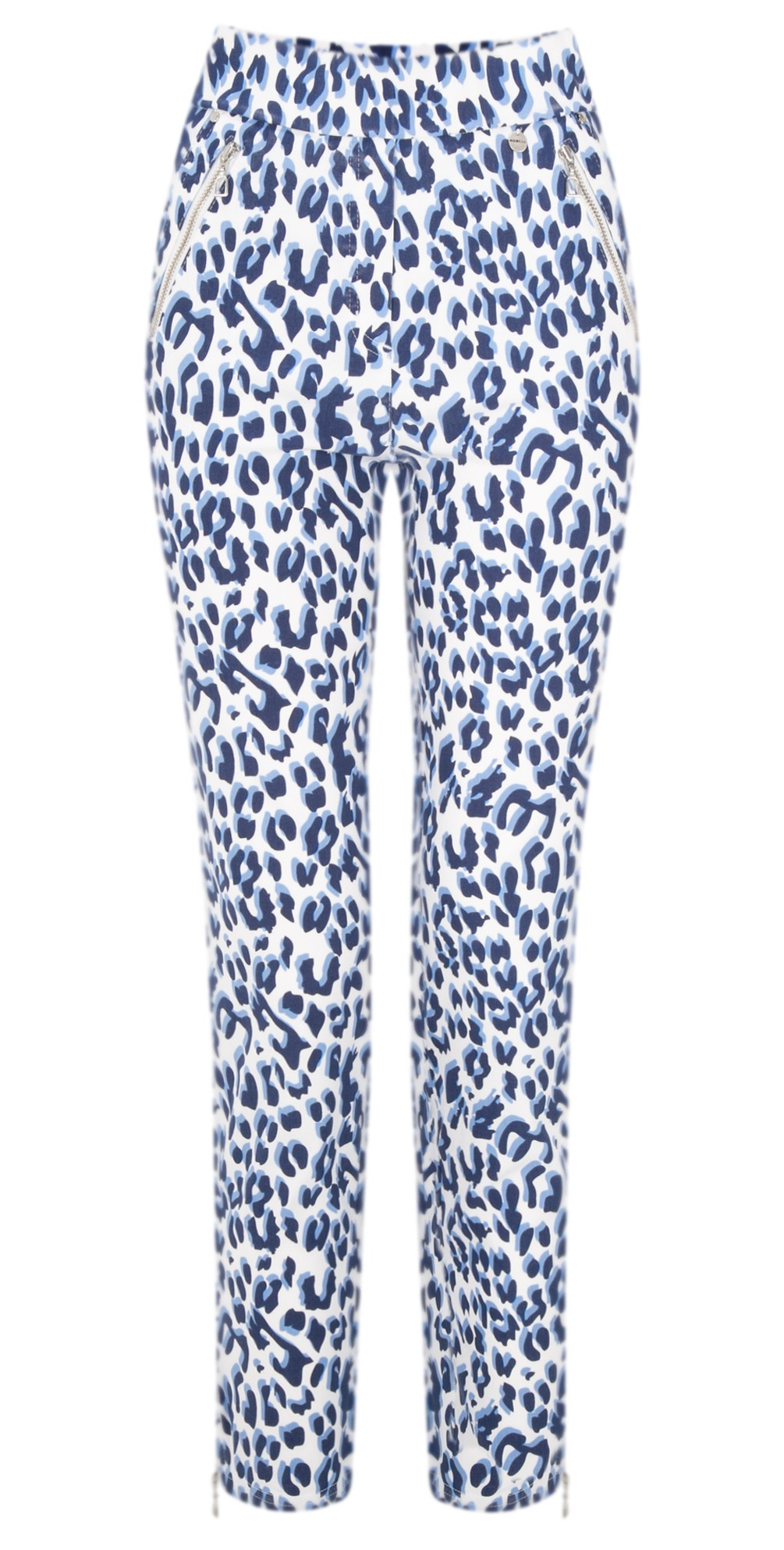 Nena Ankle Zip Animal Print Trouser main image