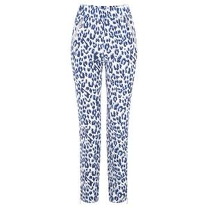 Robell Trousers Nena Ankle Zip Animal Print Trouser