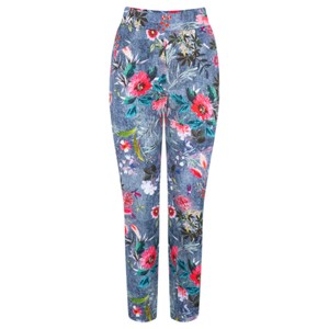 Robell  Rose 09 Floral Print Cropped Trousers