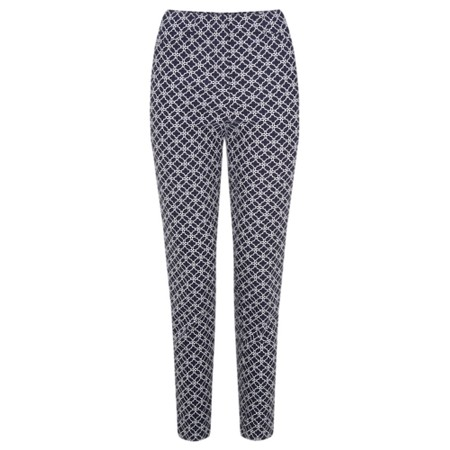 Robell Trousers Rose 09 Geometric Print Cropped Trousers - Blue
